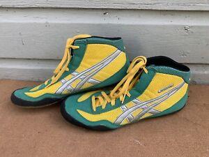 VTG Asics Wrestling Matflex Shoes JY701 Size 11.5 Oregon Ducks Colors