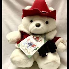 Vintage 1995 Christmas Santa Bear Plush Dayton Hudson Marshall
