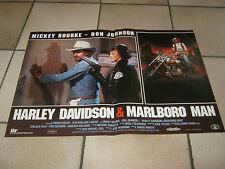 FOTOBUSTA 1991, HARLEY DAVIDSON & MARLBORO MAN, MOTO,M. ROURKE, DON JOHNSON,