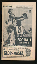 1968 VFL Football Record Essendon v St Kilda August 24 Bombers Saints