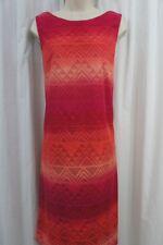 Jessica Howard Pink Crochet Sleeveless Women's Size 12 Sheath Dress #214