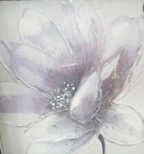 Lavender soft Flower canvas Wall Art painted flower