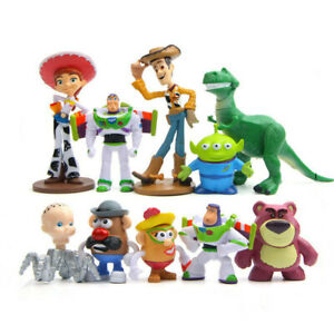 10 Pcs Disney Toy Story Buzz Woody Jessie Action Figure Statue Cake Topper Gift