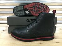 G/FORE Hi Golf Boots Golf Shoes Spikeless Onyx Black Red Bubba SZ ( MF18EF16 )
