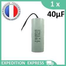 Condensateur moteur 40µF 40uF 450V à fils MKSP-5P démarrage/permanent
