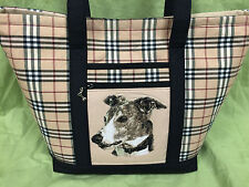 Gorgeous Custom Embroidered Greyhound Tote