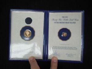 1985 British Virgin Islands Gold 100 and 25 Dollar Coin Set In Mint Folder RARE