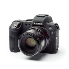 Camera silicone cover for Canon EOS R  Black +  LCD Screen Protectors.