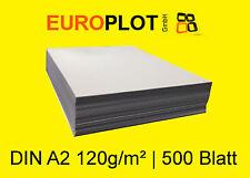 (0,38€/m²) Kopierpapier 1x 500 Blatt   120 g/m² DIN A2 Plotterpapier