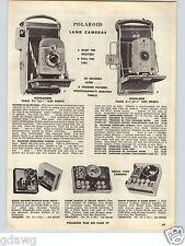 1957 PAPER AD Polaroid Land Camera Speedliner Highlander 35MM Stereo Bosley