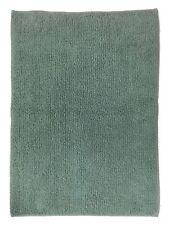 Reversible Dark Aqua Blue Plush Pile Throw Rug 23x38 Cotton Bath Mat
