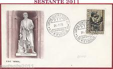 ITALIA FDC ROMA CENTENARIO DONATELLO 1966 ANNULLO TORINO Y708