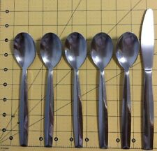 5 Oval soup Place Spoon Michael Lloyd Crystalis Flatware Stainless Steel 7-1/2""