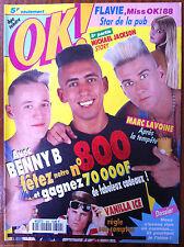 Ok Magazine n°800; Benny B/ Vanilla Ice/ Marc Lavoine/ Miss Ok/ Madonna/ Jackson