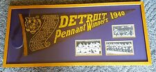 1940 Detroit Tigers World Series RARE Scroll Pennant - Professionally Framed!