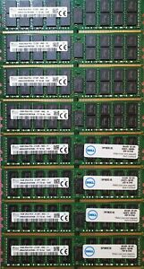 Lot of 8 16GB Reg ECC DDR4 DELL server memory