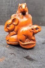 "antique japanese netsuke "" Rats """