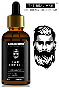 growth oil for beard and mustache fast growth, premium quality, 100% Organic