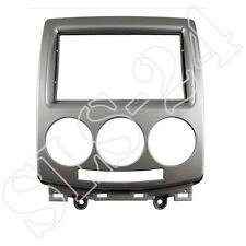 Mazda 5 2006-2012 Radioblende Einbau KFZ Rahmen Doppel 2-DIN Radio Blende silber