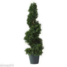 NEW 2' INDOOR OUTDOOR ARTIFICIAL SILK CEDAR SPIRAL TOPIARY TREE - 5160