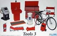 Garaje Herramientas Set 3 1:24 Plástico Modelo Kit Fujimi