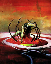 "FRANK FRAZETTA Fantasy Art Prints Canvas Textured Finish ""Spiderman"".2.1"