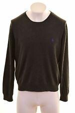 POLO RALPH LAUREN Mens Crew Neck Jumper Sweater XL Grey Cotton  DT02