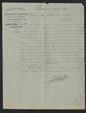 """SOUSTONS (40) USINE de BOUCHON LIEGE du MARENSIN """"MORESMAU & Cie"""" en 1883"""