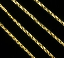 """2mm Gold Filled Womens Mens Curb Chain - New 16"""" to 24"""" Solid Unisex Necklace"""