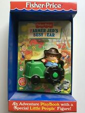 Fisher Price Farmer Jed's Busy Year with Playbook; Little People Figure in Box