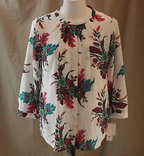 Liz Claiborne Career, XL, Silk Road Crema Multi Floral Top/Cami, New with Tags