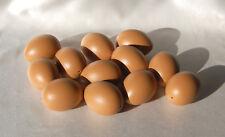 100 Ostereier, 6 cm, braun, naturbraun, Kunststoffeier, Plastikeier