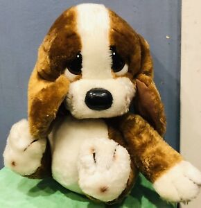 "1981 Sad Sam Sr Basset Hound Plush 12"" Large Eyes Floppy Ears Puppy Dog"
