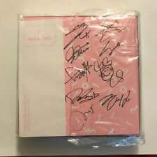 TWICE page two pink ver. Autograph autographed album rare from JAPAN F/S