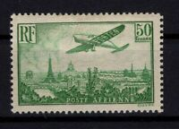 AJ140404/ FRANCE / AIRMAIL / Y&T # 14 MINT MH CERTIFICATE - CV 1300 $