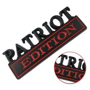For Patriot Edition Car Emblemtruck Boat Logo Decal Sign Badge Black Red Neck