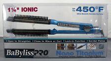 "BaByliss Pro Nano Titanium 1-1/4"" OMNI STYLER Straight Iron Curl Wave BABNT8125"