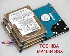 "80 GB 2,5"" 6,35cm IDE PATA HDD FESTPLATTE TOSHIBA MK1034GSX HDD2D30 DEFEKT #K"