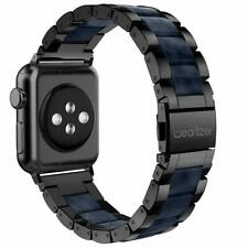 iWatch Band 38mm/40mm Series 5 4 3 2 1 Stainless Steel Bracelet Black/Dark Blue