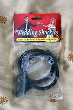 Bridal Bachelorette Party Wedding Shackles Rubber Packaged