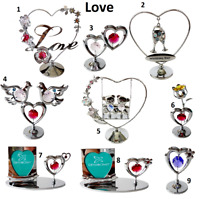 Crystocraft Valentines Day Gift Crystal Love Ornament Figurine Swarovski Element