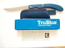 BUCK USA 539 TRUBLUE FOLDING LOCKBACK FISH FILLET KNIFE WITH SHEATH