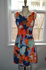 NWT anthropologie postmark lantana fit flare dress orange floral summer M 6 $130