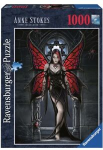 """ANNE STOKES """"GOTHIC BUTTERFLY"""" FAIRY FANTASY RAVENSBURGER 1000 PC PUZZLE 🧩"""