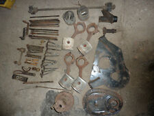 Triumph TR4  TR3 parts lot, engine plate, pistion, connecting rods, others