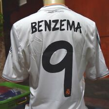 REAL MADRID Shirt Home 2013-2014 sz Large*Adult BNWT #9 BENZEMA official nameset
