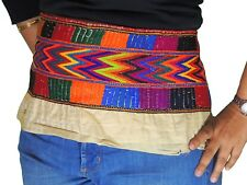 Multicolor Nomadic Tribal Vintage Textile Trim Mirror Embroidery Bellydance Belt