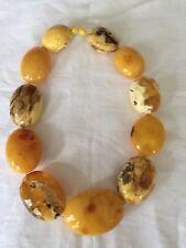 NATURAL Baltic Butterscotch Egg Yolk Amber Bead Necklace 263.5 Grams