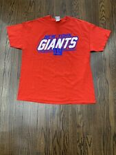 NFL Team Apparel New York Giants Tee Shirt Mens Extra Large Red