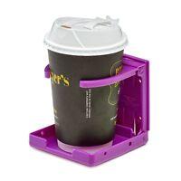 AdirMed Purple Universal Adjustable Folding Drink Cup Holder